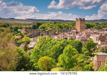 The market town of Richmond is sited at the very edge of the North Yorkshire Dales on the banks of River Swale