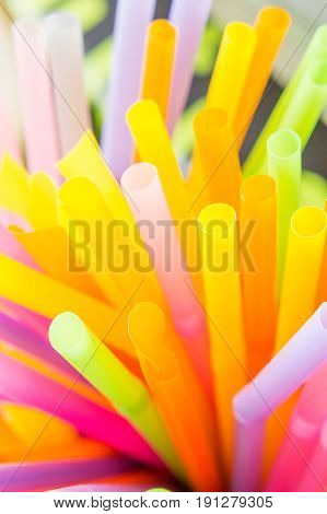 Straw colorful background , straws for drink
