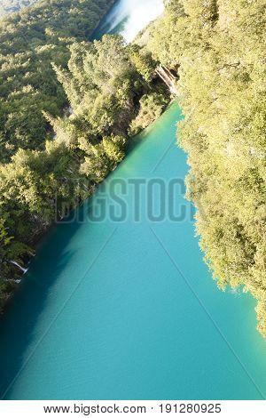 Plitvice lakes - National park in Croatia. UNESCO place.