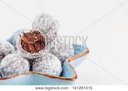 Bitten Chocolate Truffle In Sugar Powder