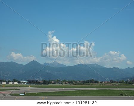 Bergamo Orio Al Serio Airport Runway