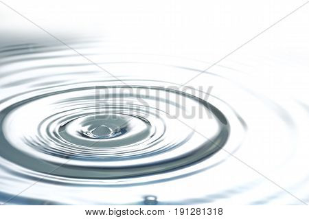 Liquid silver metal abstract water drops waves and ripples with copy space