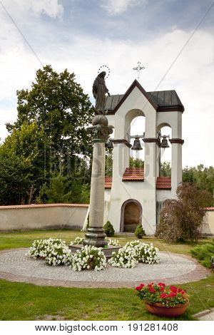Figure - Mother of God in sanctuary in Lesniow Poland Silesia.