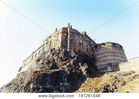 antique city building in Edinburgh, Scotland