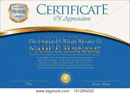 Certificate Or Diploma Retro Template 03.eps