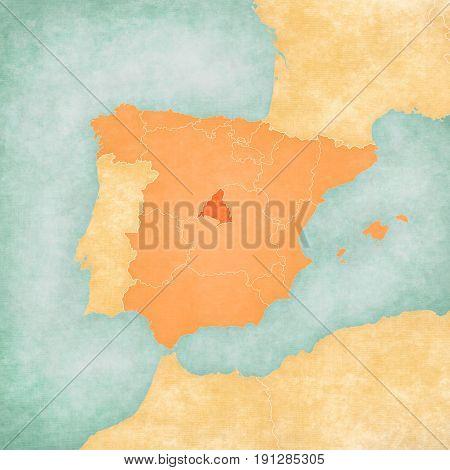 Map Of Iberian Peninsula - Madrid