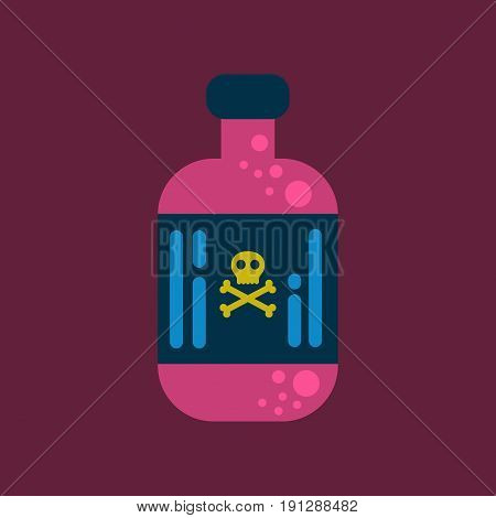 flat icon on stylish background potion in bottle