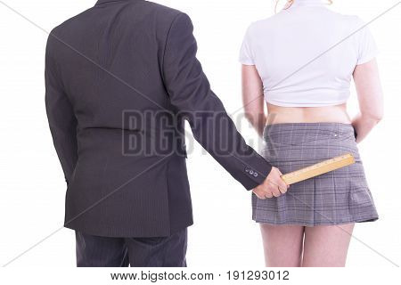 Couple in role playing game isolated on white background.