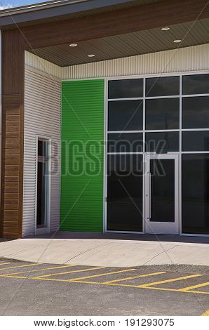 Generic store front business or professional office space entrance.