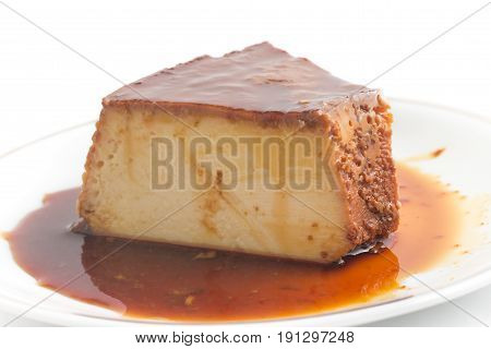 Slice Of Brazilian Milk Pudding