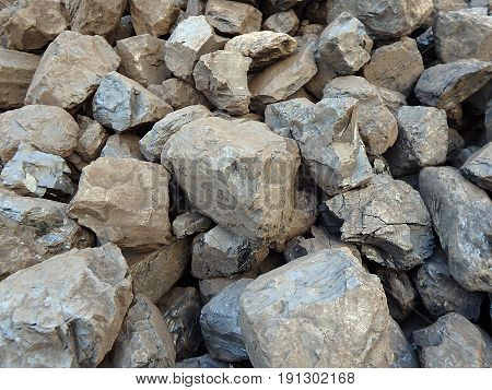 Coal mineral black cube stone background , coal