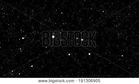 Abstract Background With White Stars