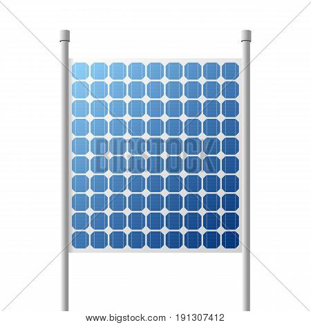 Solar Panels outdoor suare Building. Vector Illustration