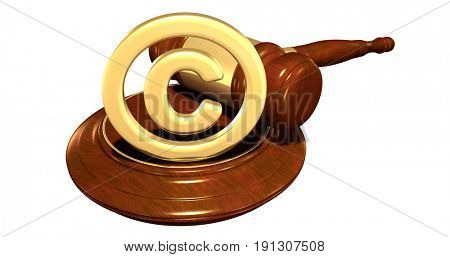 Copyright Law Concept 3D Illustration