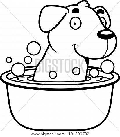 Cartoon Labrador Bath