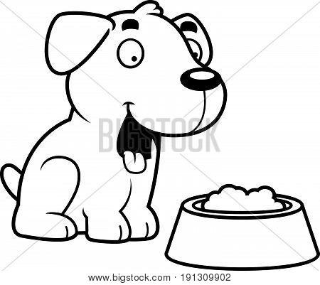 Cartoon Labrador Food