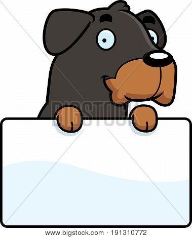 Cartoon Rottweiler Sign