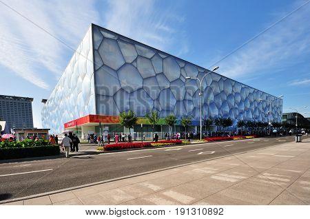 Beijing, China - September 21, 2009: Exterior Of The Beijing National Aquatics Center. It Is Also Kn