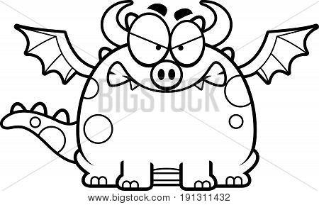 Angry Cartoon Dragon