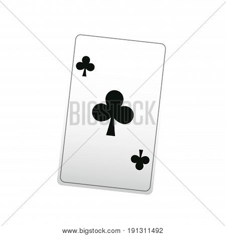 poker ace card, playing casino vector illustration