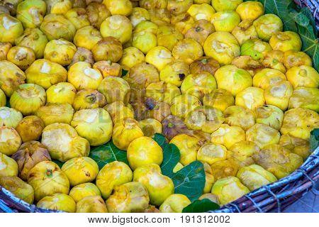 Ripe Figs In A Basket