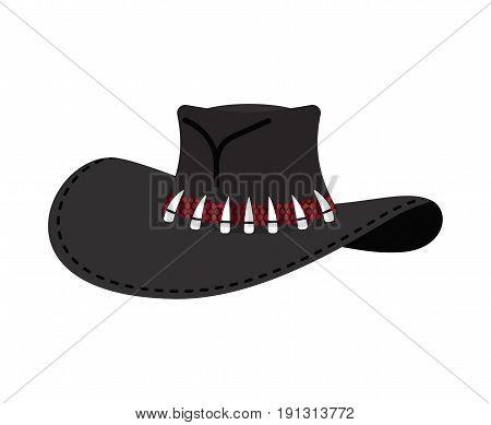 Cowboy Hat Isolated. Australian Crocodile Hunter Cap