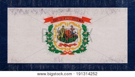 Flag Of West Virginia Grunge