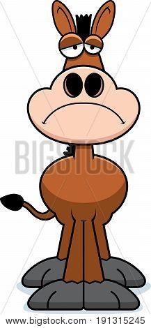 Sad Cartoon Donkey