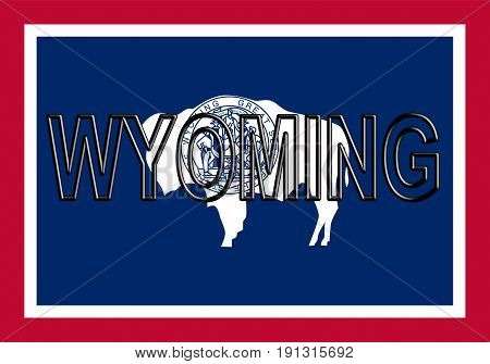 Flag Of Wyoming Word