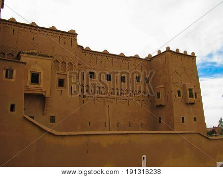 View to Ouarzazate old city aka kasbah in Morocco
