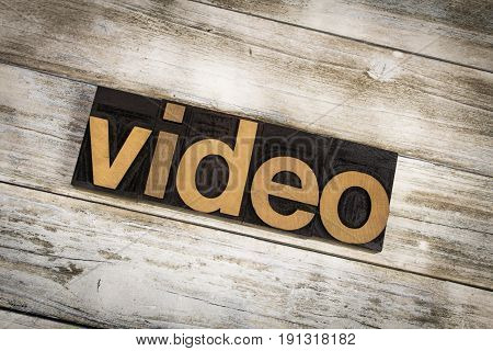 Video Letterpress Word On Wooden Background