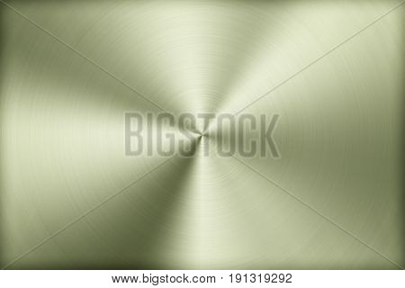 Technology background with polished brushed metal radial texture of alloy titan steel chrome nickel. poster