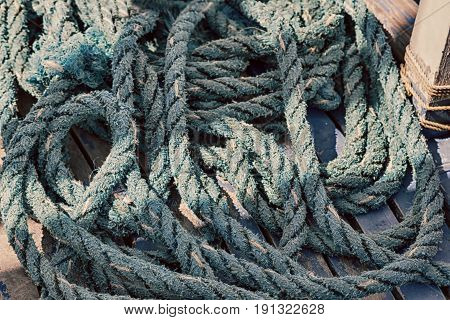 A Rope In  Yacht Accessory  Boat