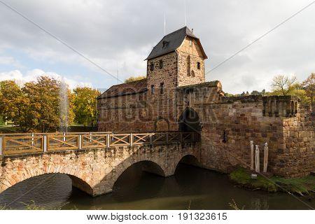 Ruin of castle Bad Vilbel Hesse Germany