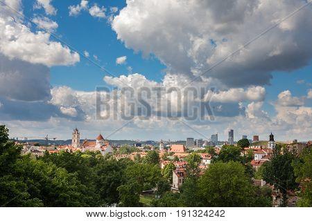 Vilnius Oldtown, Lithuanian Capital City Cityscape
