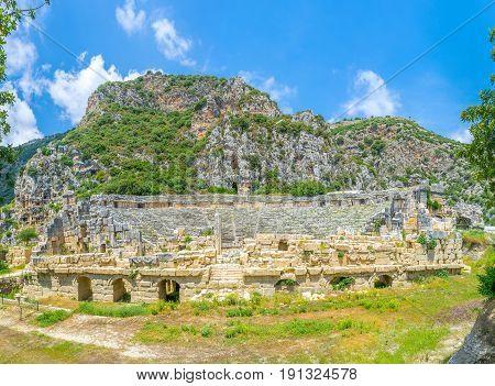 Panorama Of Old Myra