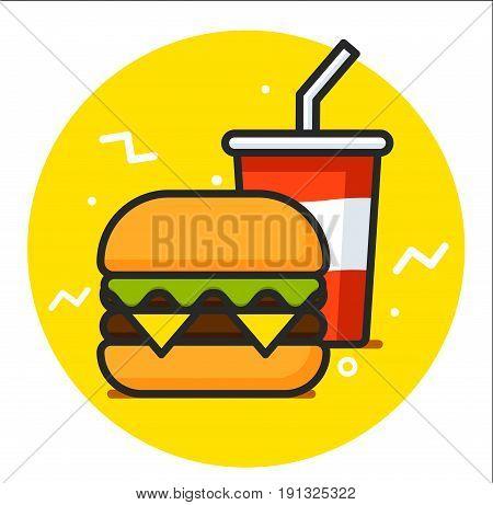 Fast Food Icon design illustration graphic rasterized