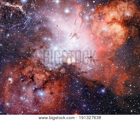 Bright Nebula In Deep Space.