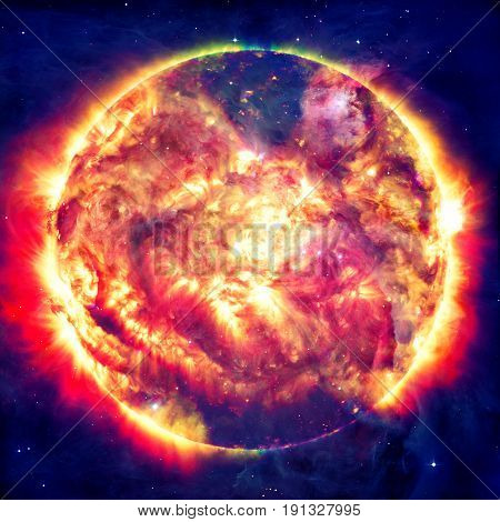 Awesome Background - Planets In Space, Nebulae And Stars.