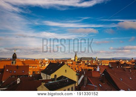 City View Of Nuremberg, A City In Franconia In The German State Of Bavaria