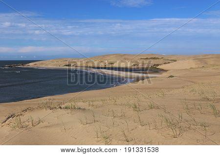 Dunes behind of Barra de Valizas, Cabo Polonio