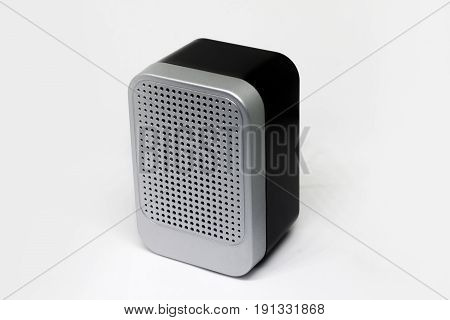 Speaker Bluetooth Gray and black  color on White background.