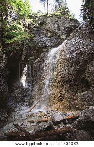 Waterfall In Mountain - Slovak Paradise
