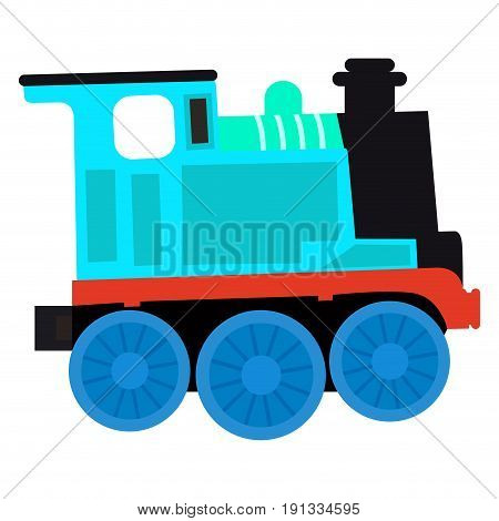 Isolated train toy on a white background, Vector illustration