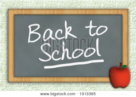 Back To School Chalkboard With Clipping Path