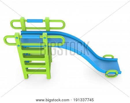 Children slide 3D render illustration isolated on white background