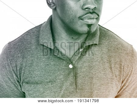 African American Man Expression Emotion Studio Portrait