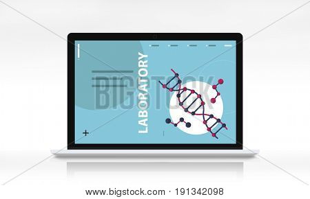 Dna strand genetics science graphic on a screen