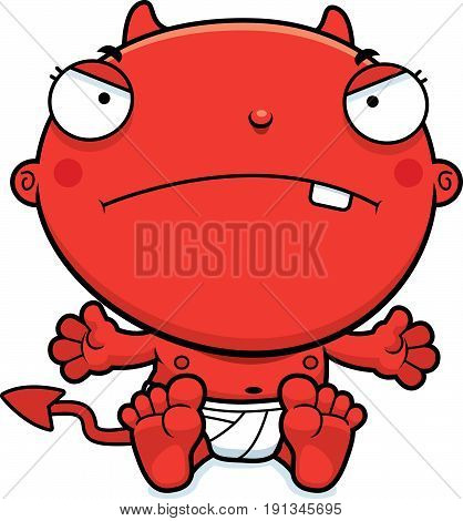 Cartoon Baby Devil Mad