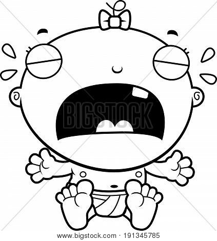 Cartoon Baby Girl Crying
